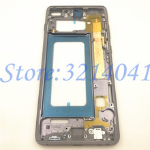 Middle Frame Bezel Plate For Samsung Galaxy S10 S10 Plus S10+ Metal Housing Middle Frame with Side Keys