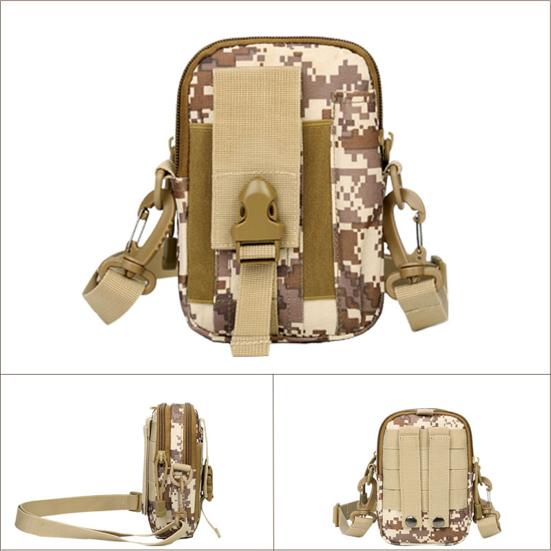 Upgraded Camouflage Tactical Waist Pack Multi-functional Shoulder Wallet Running Outdoor Sports Mobile Phone Small Wallet