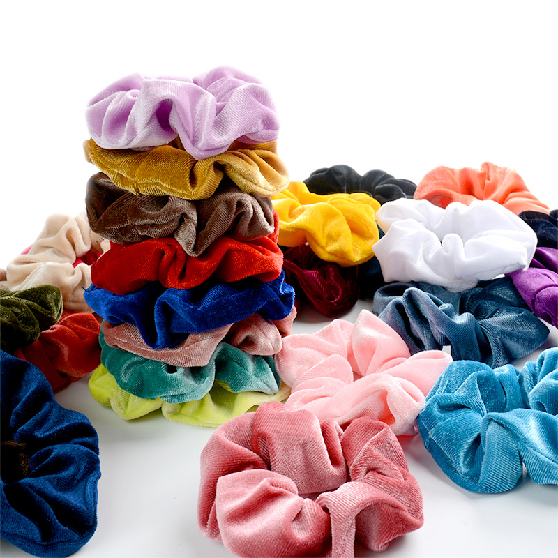 Simple Scrunchie Velvet Elastic Hair Bands For Girls Hair Accessories Women Fashion Soft Ponytail Holder Tie Gum Headdress Gifts
