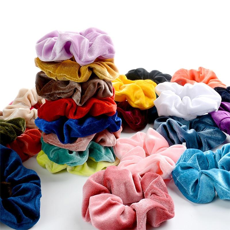 Simple Scrunchie Velvet Elastic Hair Bands For Girls Hair Accessories Women Fashion Soft Ponytail Holder Tie Gum Headdress Gifts
