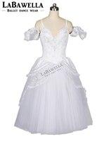 Girl's Ballerina Stage Costumes BT8902B Snow White Queen Adult Professional Ballet Long Tutu Romantic Ballet Tutu Dress