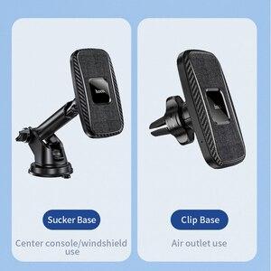 Image 3 - HOCO автомобильное Qi Беспроводное зарядное устройство 15 Вт Быстрая зарядка подставка для iPhone 12 pro Max 12 Мини Автомобильный держатель для телефона магнитное крепление на вентиляционное отверстие