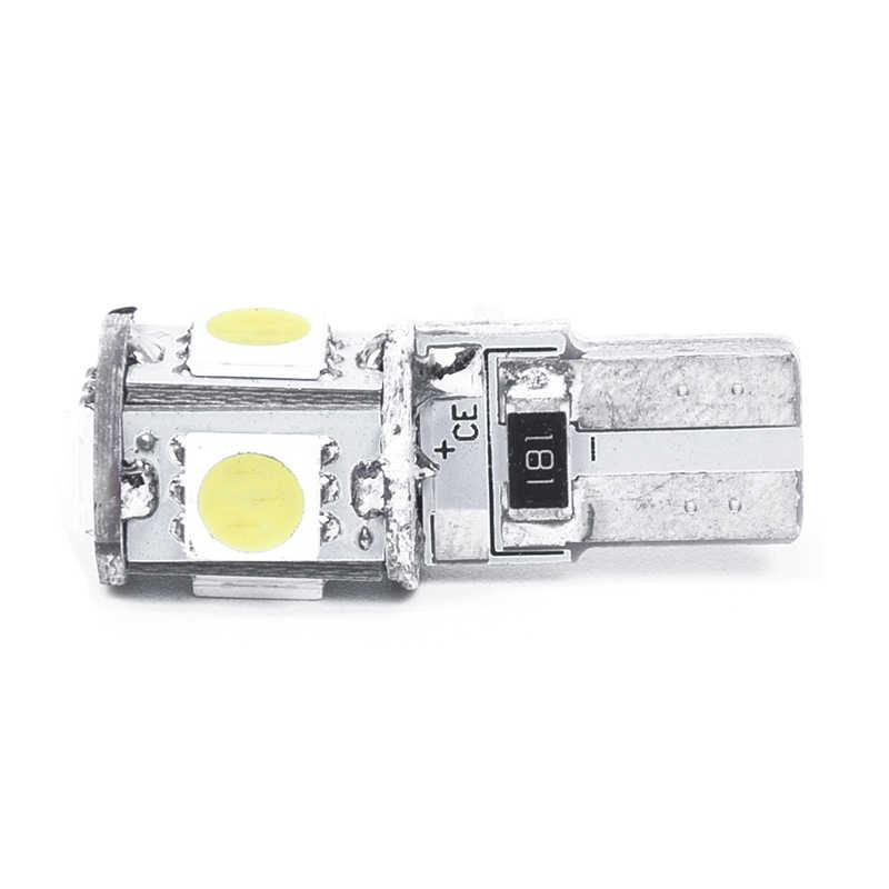 2 × lâmpada w5w t10 5 led smd branco xenon noite luz do carro lâmpada odb anti erro canbus