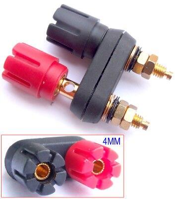 DHL/EMS  100PCS Gold Double Speaker Binding Post For 4MM Banana Plug Power Amplifier-A8