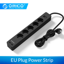 ORICO 3/5 AC+2 USB Power Strip Electronic Socket Home Office Surge Protector EU Plug Extension Smart Wall Mounted Charger