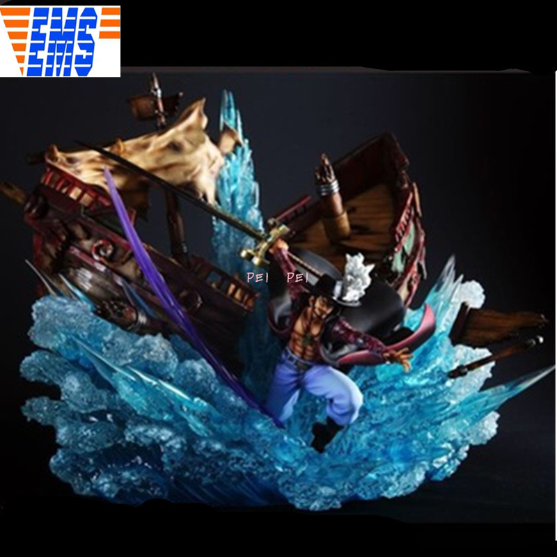 Anime One Piece Seven Warlords Of The Sea Dracule Mihawk Full-Length Portrait <font><b>GK</b></font> Resin Statue Action Figure Toy box p1769 image