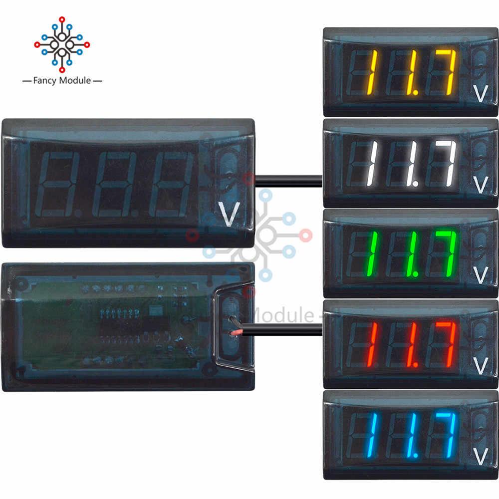 DC 8-16V IPX6 Waterproof Voltmeter LED Digital Display Volt Voltage Meter
