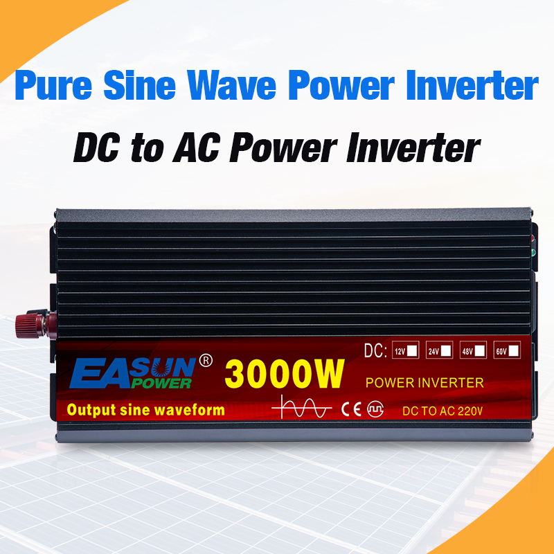 Power-Inverter Voltage-Transformer Led-Display Wave 4000W 230V Pure Sine 220V 12v 24v