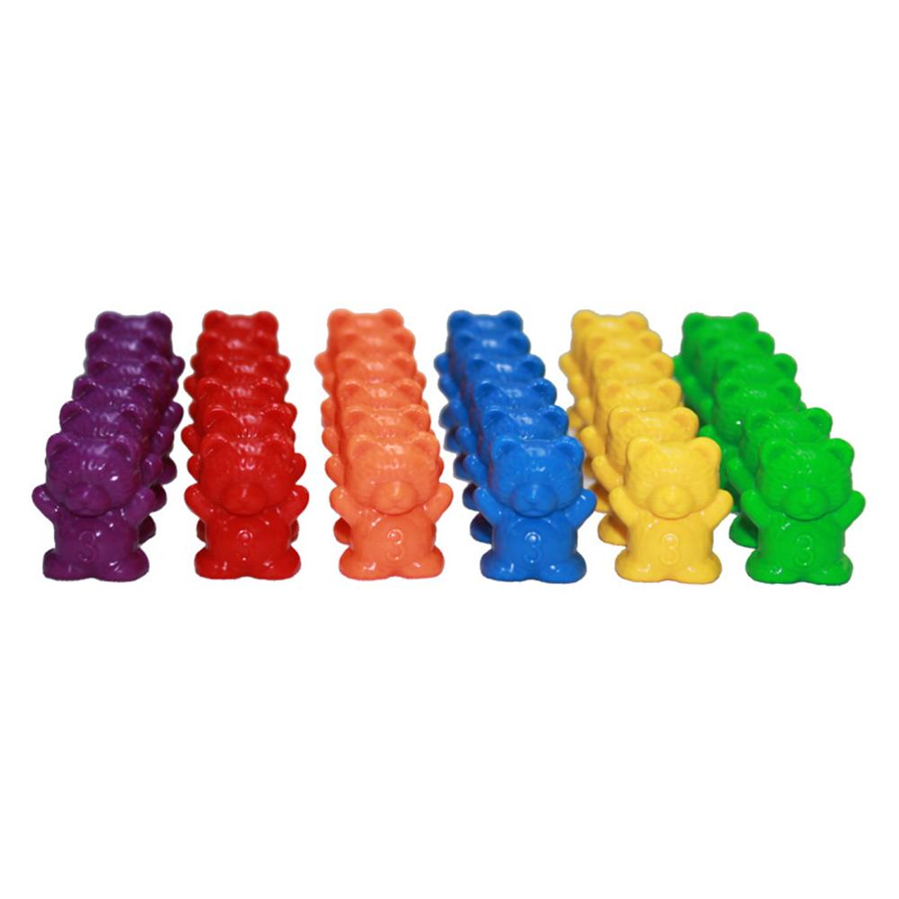 60Pcs Colorful Bear Shape Counters Toy Counting Numbers Classroom Teaching Aids Montessori Educational Learning Materials