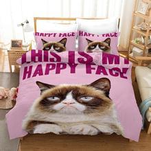 Cute Cat 3D Bedding Set Duvet Cover Set Bedding Set Luxury Twin Full Queen King Size Comforter Set Bed Set  Home Textiles