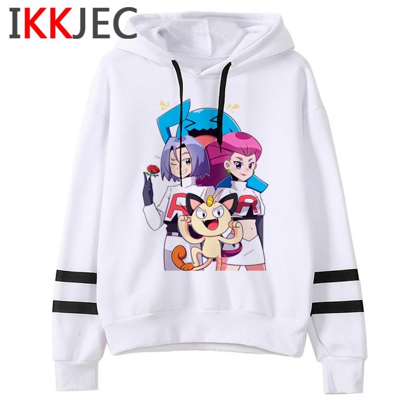 Pokemon Go Funny Cartoon Warm Hoodies Men/women Cute Pikachu Japanese Anime Sweatshirts Fashion 90s Steetwear Hoody Male/female 24