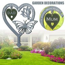 Memorial Butterfly Decoration Garden Plague Memorial Decorative Stones with Sayings Memorial Gifts for Loss of Father