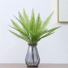 Décoration de la chambre feuilles artificielles branche feuille verte pour la décoration de la maison fête mariage plantes Faux tissu feuillage plante artificielle