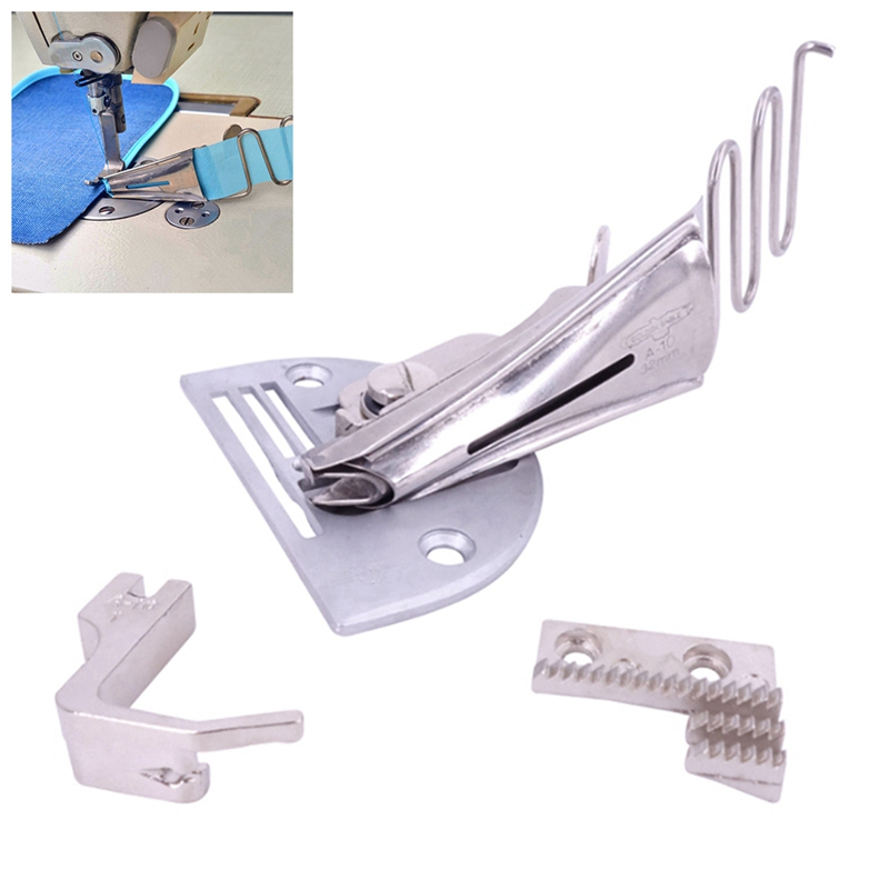 Overlock Folder A10 Binder Hem Right Angle For Lockstitch Sewing Machine Parts Accessories Tools Flat Car Wrapping Device