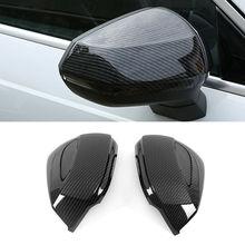2Pcs Side Wing Mirror Cover For Audi Q2 Q3 2017 2018 Q3 2019 Carbon Fiber High Quality Rearview Mirror Cap Cover Car Accessories