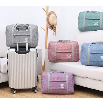 Torby podróżne o dużej pojemności torby podróżne torby podróżne torby podróżne torby podróżne torby podróżne składana torba weekendowa tanie i dobre opinie LKEEP CN (pochodzenie) Versatile 30cm 40cm zipper Torba podróżna 380g Travel Bag SOFT moda oxford 13cm Stałe WOMEN
