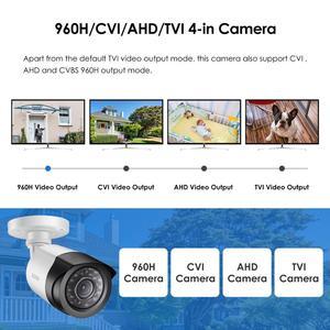 """Image 2 - ZOSI lente de vigilancia 4 en 1 CVBS AHD TVI CVI 1/2.7 """"CMOS 1080P CCTV para el hogar, resistente a la intemperie, 3,6mm, con corte IR, cámara de seguridad tipo bala"""