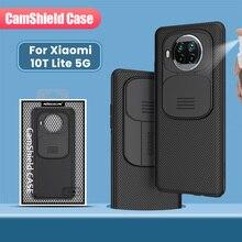 לxiaomi 10T לייט 5G מקרה NILLKIN CamShield כיסוי שקופיות מצלמה להגן על פרטיות נקי חזרה לxiaomi 10T לייט 5G 12.5