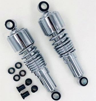 Ajustable de 267mm amortiguador trasero para Dyna Fatboy Heritage Softail de hierro 883 Sportster Tour deslizamiento XR750