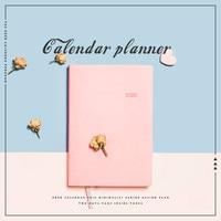 Korean Agenda 2020 Planner Organizer Notebook Daily Weekly Planner 2020 Schedule Notepad Cute Pink Girl Diary Notebooks Journals