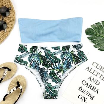 Riseado Bandeau High Waist Swimsuit Set 4