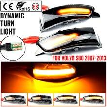 สำหรับ Volvo C30 C70 S40 S60 V40 V50 V70 2008  2010 LED แบบไดนามิกไฟเลี้ยวด้านข้างกระจกลำดับโคมไฟไฟกระพริบ