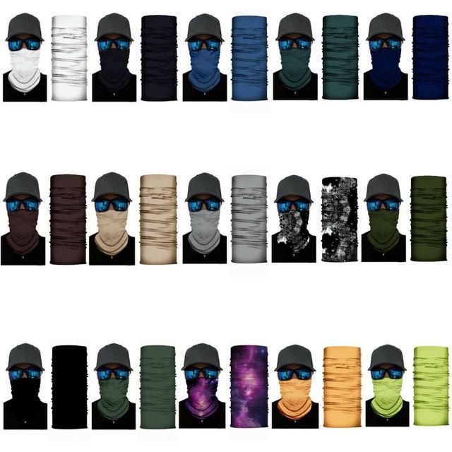 Face Mask Solid Color Face Balaclava Scarf Neck Tube Fishing Shield Sun Gaiter UV Headwear 5
