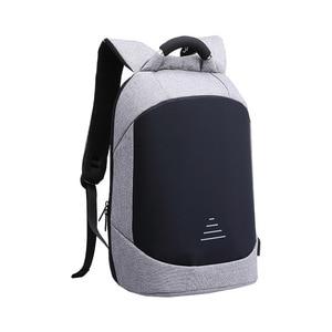 Image 4 - Homem impermeável anti roubo mochilas portátil modernista olhar resistente à água com porta de carregamento usb 15.6 notebook viagem mochila