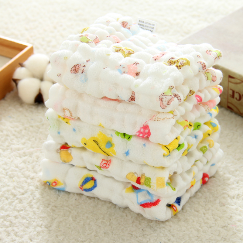 1pcs Muslin Cloth Baby Towel Newborn Cotton Animal Print Handkerchief Square Baby Face Hand Towels Wipe Cloth Appease Supplies
