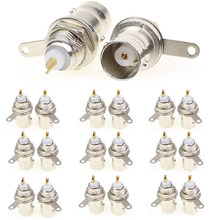 10pcs 2pcs Soldering Twist Spring BNC Connector Jack for Coaxial RG59 cable CCTV Camera parts(China)