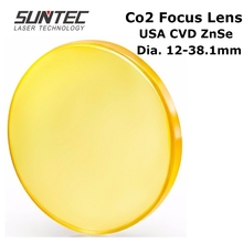 CO2 Laser Focus Lens USA CVD ZnSe DIA 12 18 19.05 20 38.1 FL 38.1 50.8 63.5 76.2 101.6  for CO2 Laser Engraving Cutting Machine co2 laser focus lens usa cvd znse material dia 19 05mm fl 38 1mm