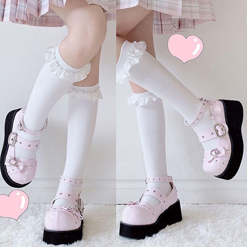 Kawaii Gothic Lolita Cute Bow Shoes