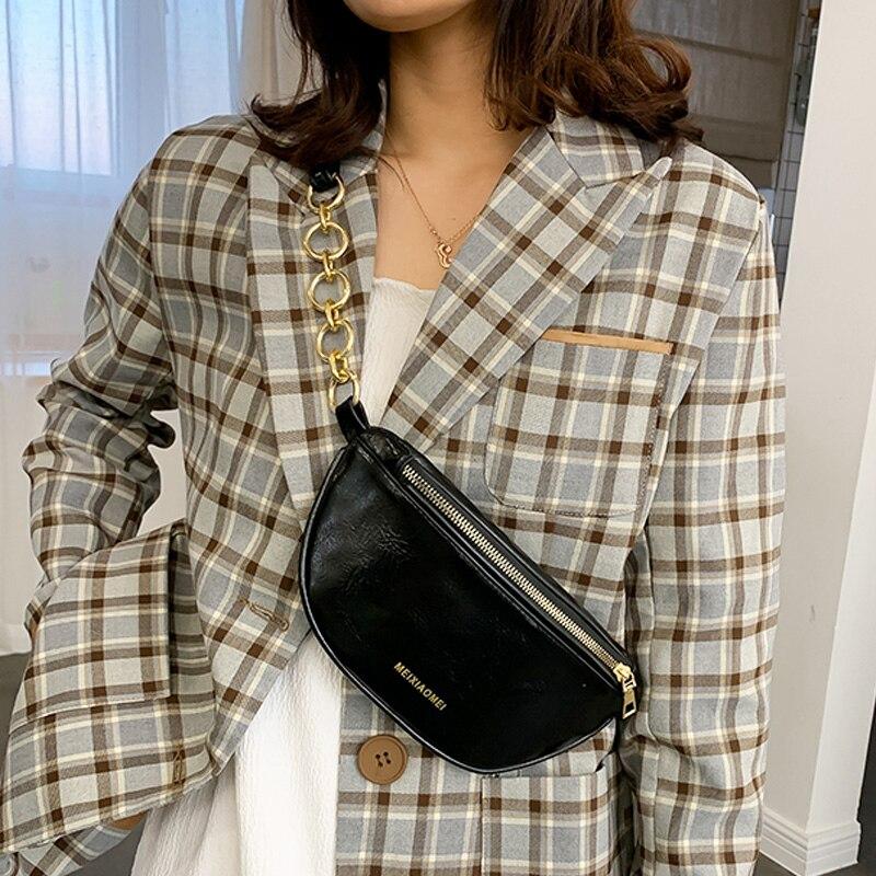Women Waist Bags Casual Small Chest Bag Crossbody Shoulder Bags For Women 2020 Bolsa Feminina Pu Leather Travel Purse