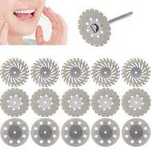 Disque de diamant dentaire 5 pièces disques de diamant minces montés Double face pour dents de coupe dentaire
