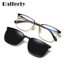 Ralferty-gafas magnéticas con Clip para hombre y mujer, lentes de sol con Clips, óptica Polar, 2 en 1, TR90, óptica, 0 grados, Z8030