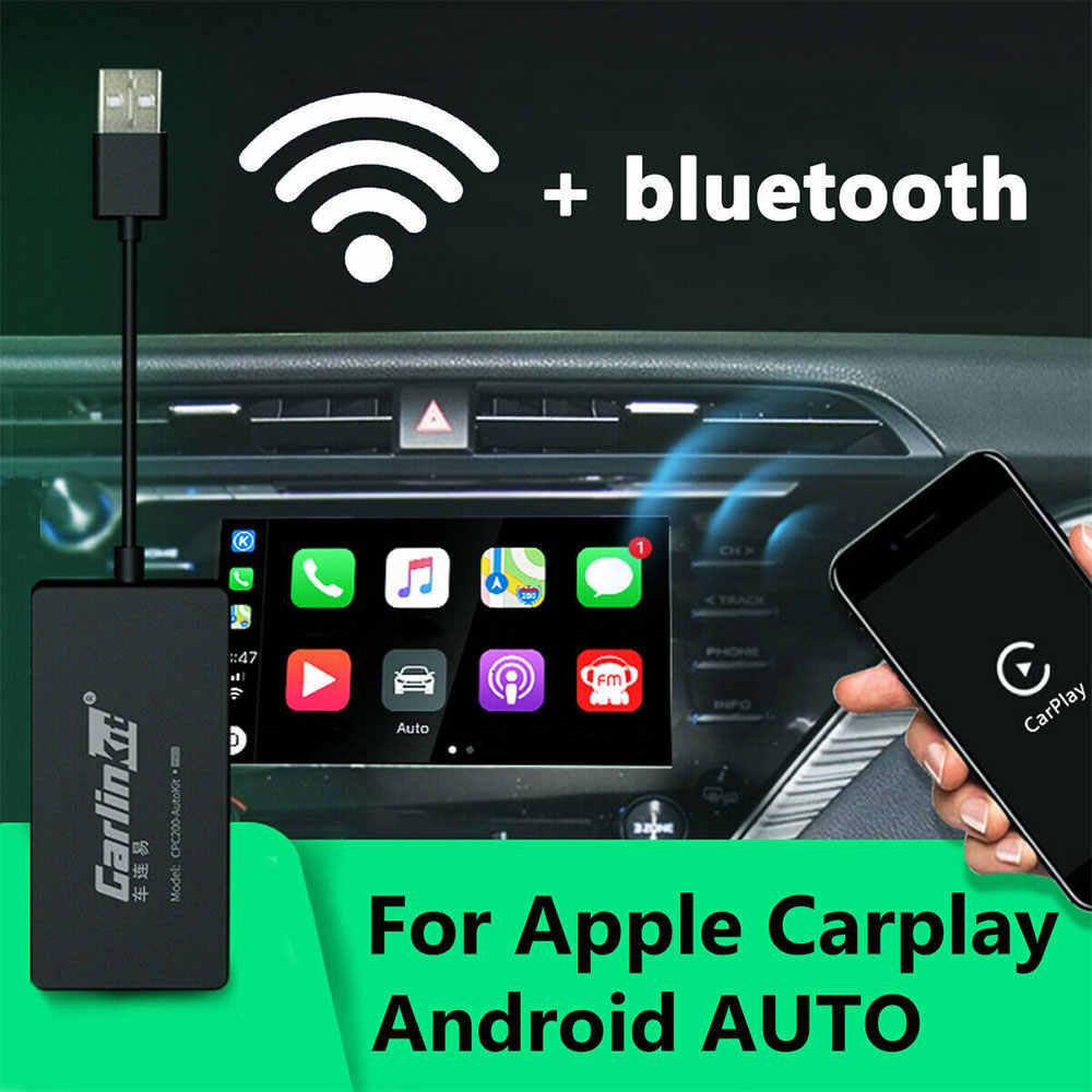 Carlinkit Carplay ドングルラジオワイヤレス apple の Carplay Adaptador USB Android の自動ドングル車再生 Iphone 車のミラーリンク