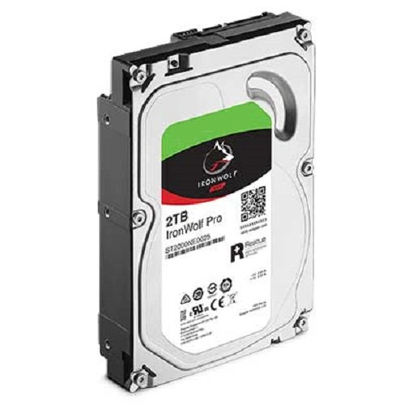 """New HDD For Seagate Brand IronWolf Pro 2TB 3.5"""" SATA 6 Gb/s 128MB 7200RPM For Internal HDD For EnterpriseHDD For ST2000NE0025 2"""
