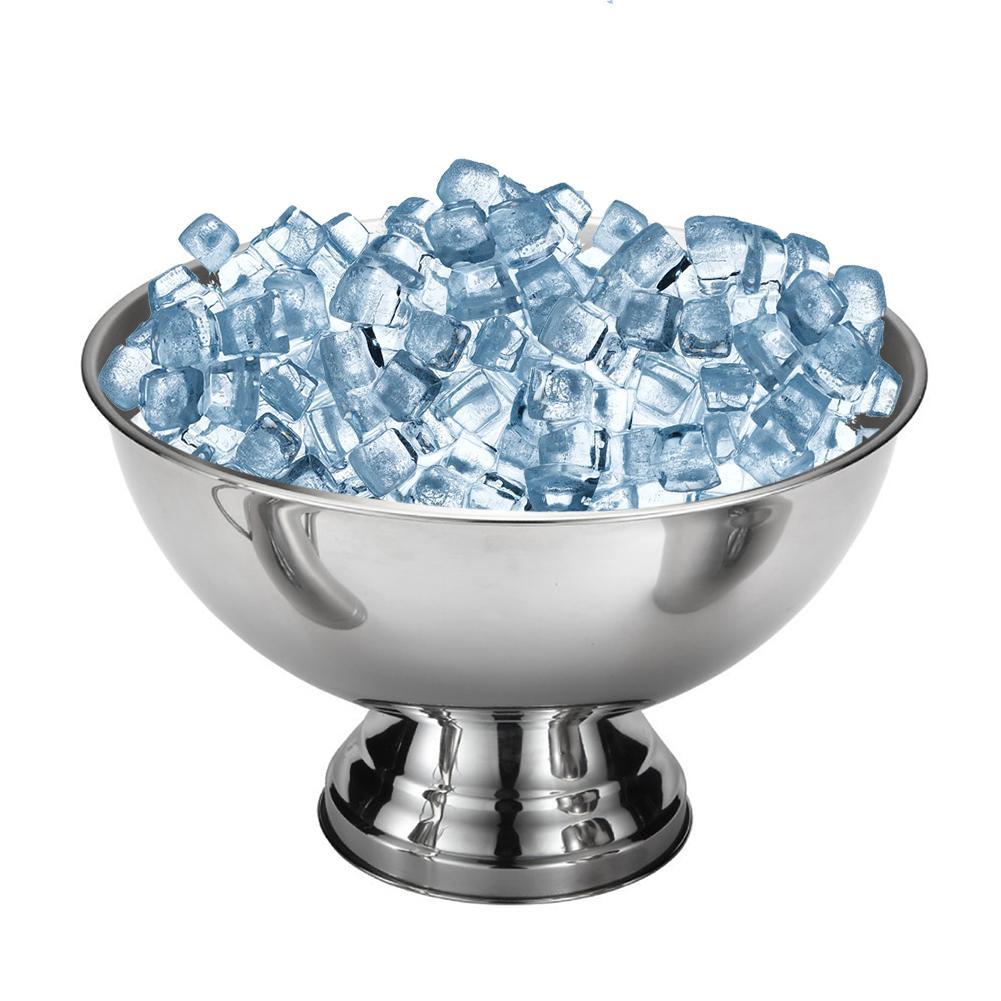Bacia do Gelo Tigela de Aço inoxidável Barra de Metal Barril de Cerveja Vinho Champanhe Grande Balde de Gelo Frito Sorvete Tigela De Salada Sobremesa copo Navio Livre