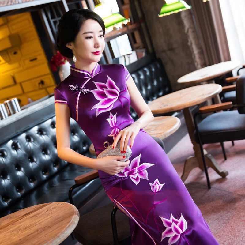 Tailor Shop Custom Made Bespoke Chinese Dress Qipao Mother Of  Bride Dresses  Dresses Mother Groom  Mothers Dresses For Wedding