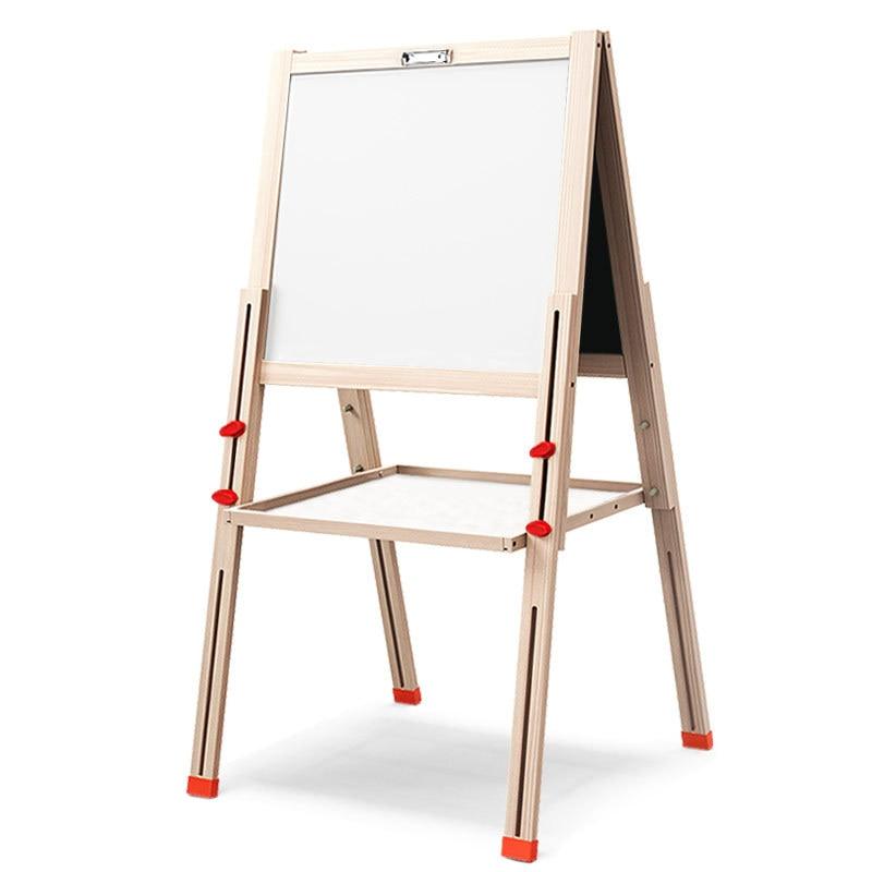 Planche à dessin pour enfants en bois enfants planche à dessin chevalet réglable contreventé enfants planche à dessin magnétique éducation précoce