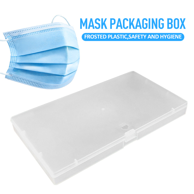 Frosted Plastic Box Mask Packaging Box Component Storage Box For Mouth Face N95 Masks Storage Box