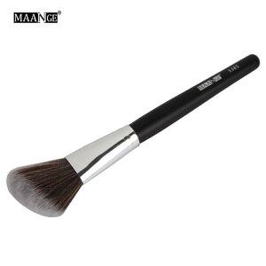 Image 3 - MAANGE 1 pièces Oblique tête pinceau de maquillage visage joue Blush Contour cosmétique poudre fond de teint Blush brosse angle maquillage outils Kit
