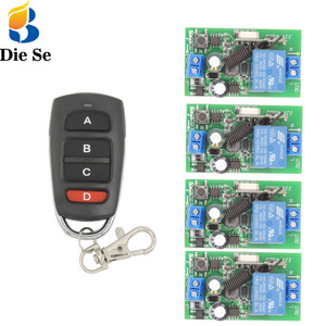 Image 1 - 433 MHz rf Remote Control AC 220V 10A 1CH Relay Receiver for universal garage/door/Light/LED/Fanner/motor/Signal transmission