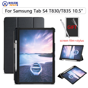 Slim Case for Samsung Galaxy Tab S4 T830 T835 SM-T835 SM-T835 10.5 '' Tablet 2018 Pencil Holder Protective Skin 100% original battery eb bt835abu for samsung galaxy tab s4 10 5 sm t830 t830 sm t835 t835 authentic tablet battery 7300mah