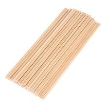 Pirulito de madeira redonda 50 peças, pirulito, varas de bolo, dowel para diy, alimentos, brinquedos artesanais molde de gelo de madeira natural sobremesa