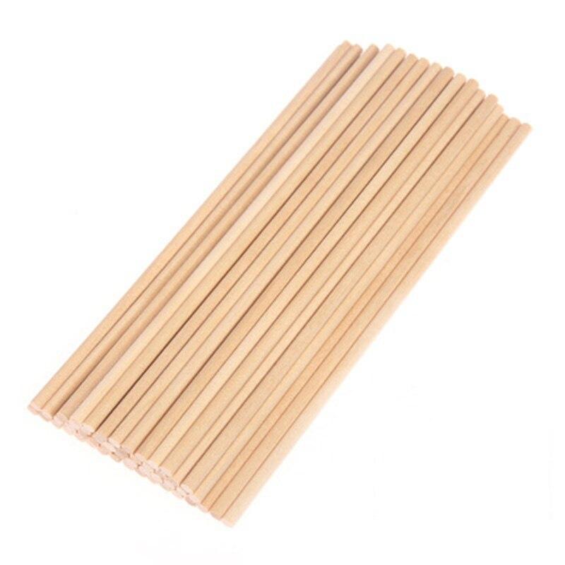 50pc 10/15/20cm Round Wooden Lollipop Lolly Sticks Cake Dowel For DIY Food Craft