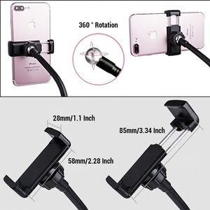 Image 5 - Universal Selfie Ring Light with Flexible Mobile Phone Holder Lazy Bracket Desk Lamp LED Light for Live Stream Office Kitchen