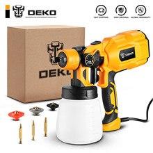 DEKO – pistolet à peinture électrique haute puissance, 3 buses et grande capacité de 800 ml, HVLP, pulvérisation facile