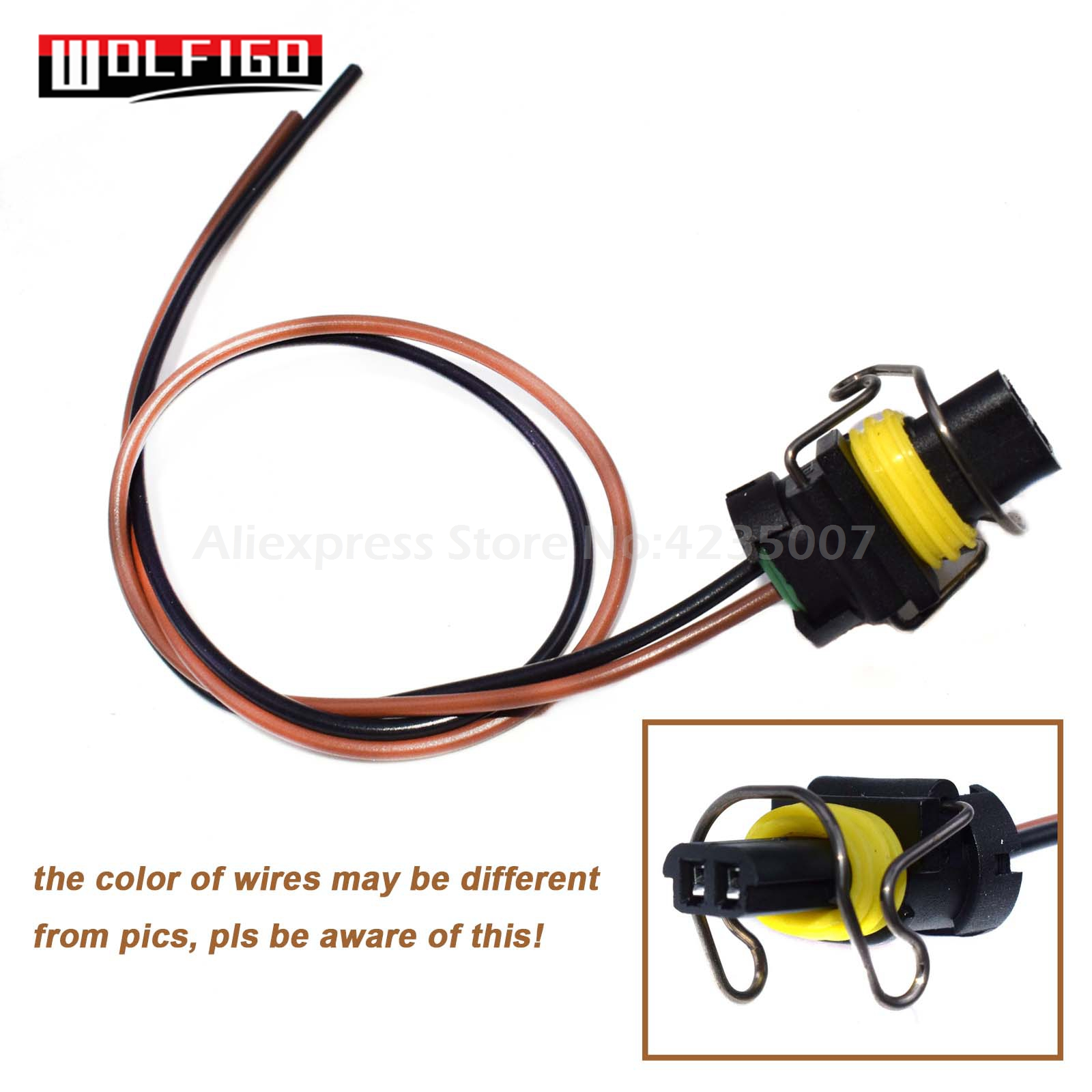 WOLFIGO 1 / 2 / 4 / 8PCS For Ford 6.0L/6.7L/7.3L Diesel F250 F350 F450 G-M 6.6L IPR VGT Solenoid 2-way Pigtail Connector Harness