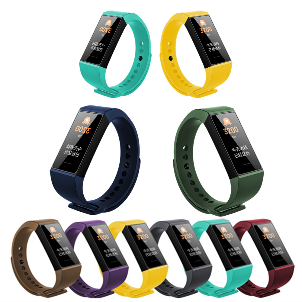 Silicone Wrist Strap For Redmi Smart Bracelet For Xiaomi Redmi Band Replacement Watch Strap For Mi Redmi Band 4 Sport Watchbands